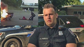 Police officer who pulled man from fiery crash says it's part of his job description