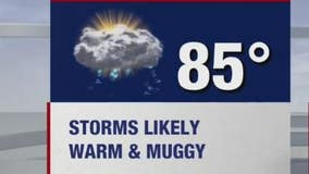 Chance of severe weather Saturday afternoon, evening
