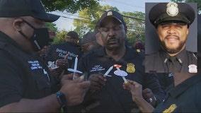 Hundreds attend vigil honoring life of Detroit police Cpl. Darryl Cross