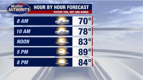 Temperatures to near 90 degrees with high humidity before another round of rain tomorrow