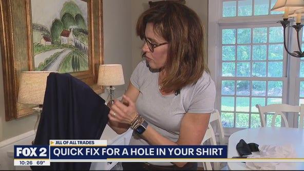 Super Simple DIY No-Sew Shirt Repair