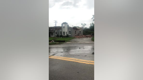 Storm damages buildings in Armada in Macomb County, sheriff warns people to stay away