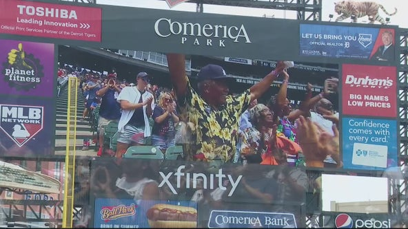 Detroit Tigers celebrate vendor's 61 years of service