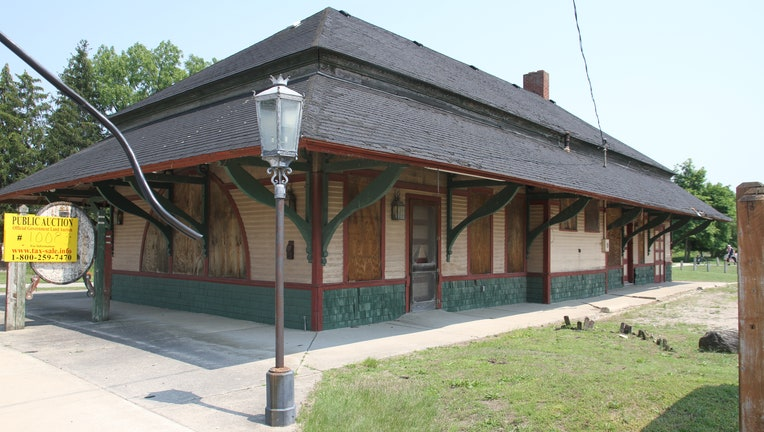 The abandoned Big Rapids Railroad Depot, 0.4-plus acres on Maple Street in Mecosta County