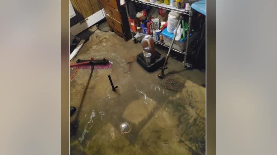 Raw sewage flooded basements on Hennepin Street in Garden City.