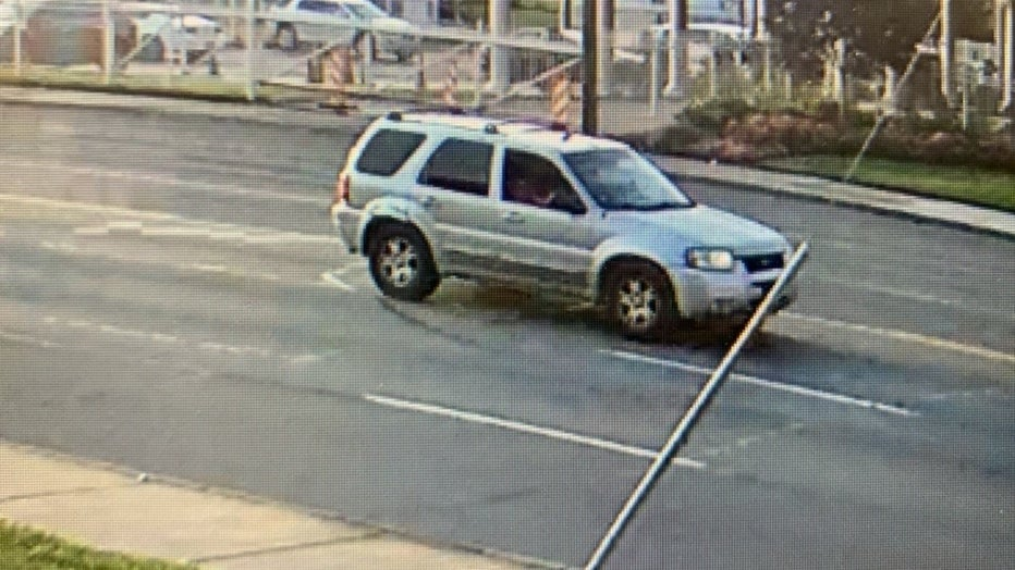 A photo of the suspect vehicle that carried an abducted woman in Detroit Tuesday night.
