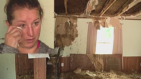 Lightning strike fire destroys new home for mom, 11-year-old daughter