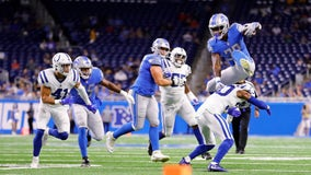 Colts beat Lions 27-17, but lose QB Sam Ehlinger to injury