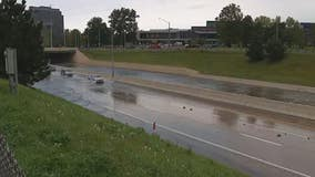 Four flooded freeways ahead of Friday night's Tigers, Lions games