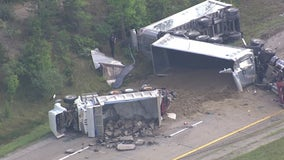 Fatal semi-truck crash closes M-14 for hours Monday