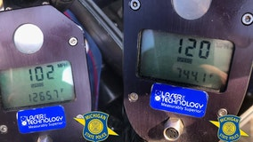 Michigan State Police stop driver at 120 on M-14, another at 102