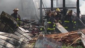 Garage fire destroys part of C & A Wood Products