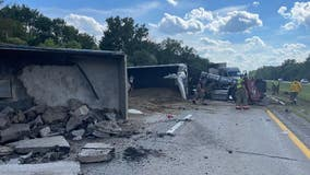 Police: Semi-truck driver was driving too fast when he hit standstill traffic on M-14, causing fatal crash