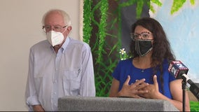 Sen. Sanders visits Detroit with Rep. Tlaib to discuss floods and $3.5T proposal