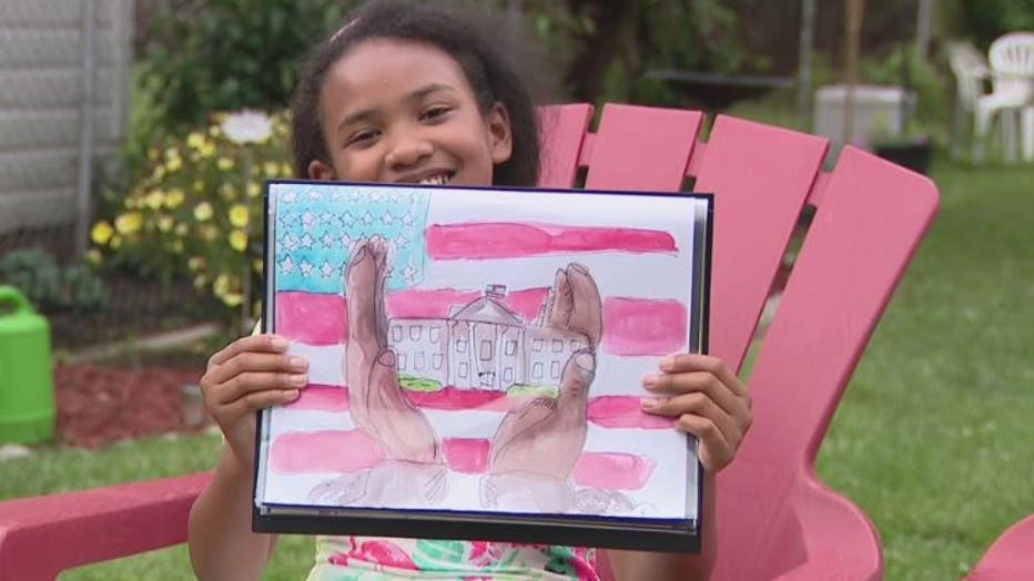 Nine-Year-Old Gabrielle Faisal Wins White House National Student Art Competition