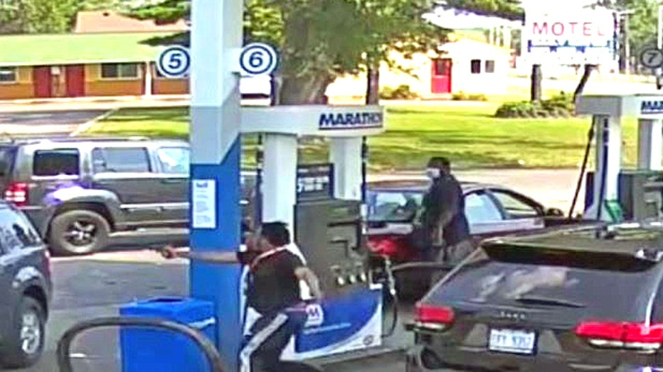 Detroit police released video of the shooter at the west side Marathon on Grand River.