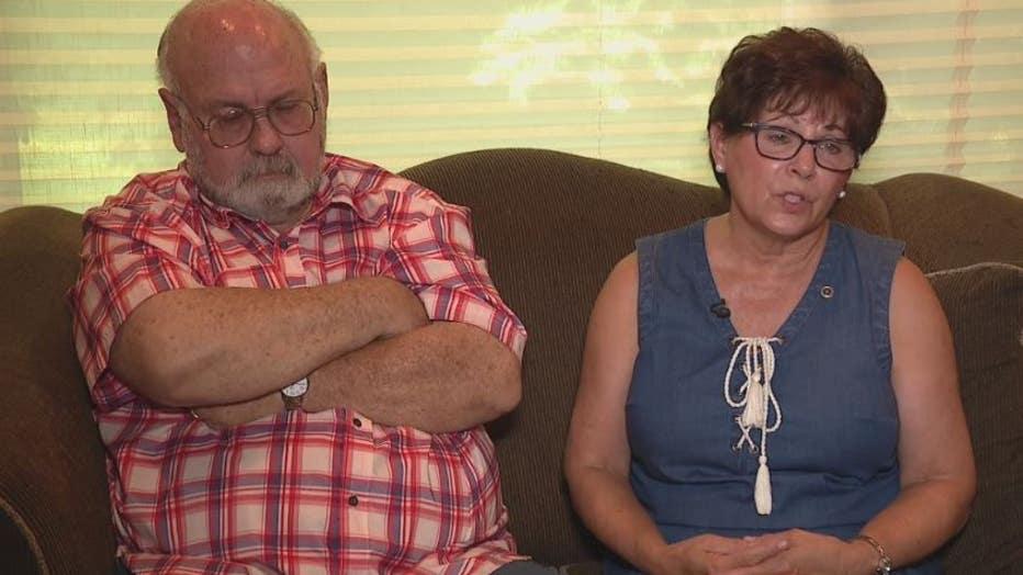 Michael and Geraldine McClain, Kyle's parents.