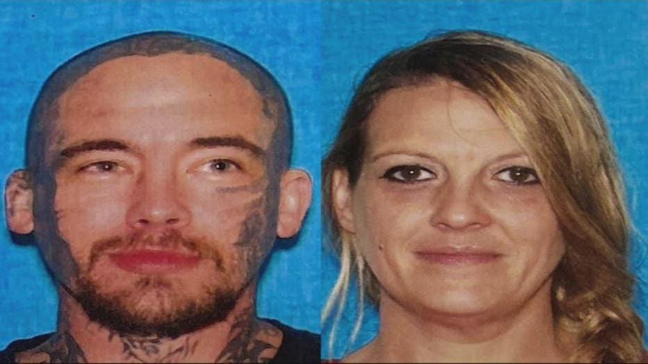 Carjack suspects William Lanham and Michelle Holladay.