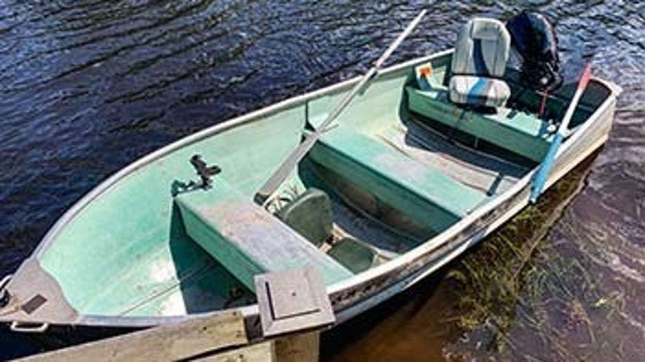 A boat used Monday to bring two paddlers missing on the Lower Tahquamenon River in Chippewa County downstream to conservation officers
