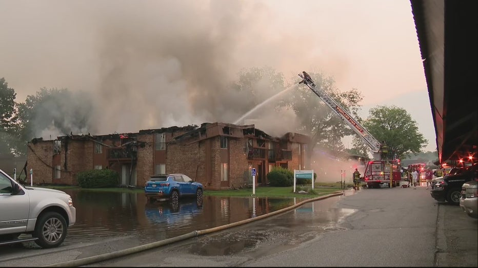 It took nearly 12 hours for fire crews in Westland to get an apartment blaze under control