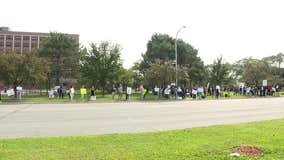 Protesters rally at Ascension Hospital against COVID-19 vaccine mandates