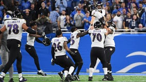 Tucker's NFL-record FG lifts Ravens to 19-17 win over Lions