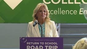 First lady Jill Biden in Royal Oak praises mask, vaccine efforts for in-person learning return