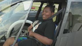 D-MAN Foundation takes disabled children on helicopter miracle flights