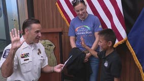 Boy battling serious illness gets wish as junior officer with Sterling Heights police