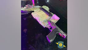 Michigan State Police recover $10k in cash, loaded pistol after chase with stolen Charger