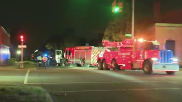 Detroit fire truck crashes into car, injuring 5 people including 4 firefighters