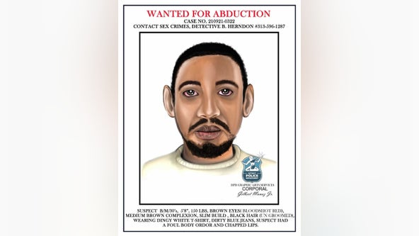 Suspect wanted for grabbing 13-year-old girl, sexually assaulting her in Detroit