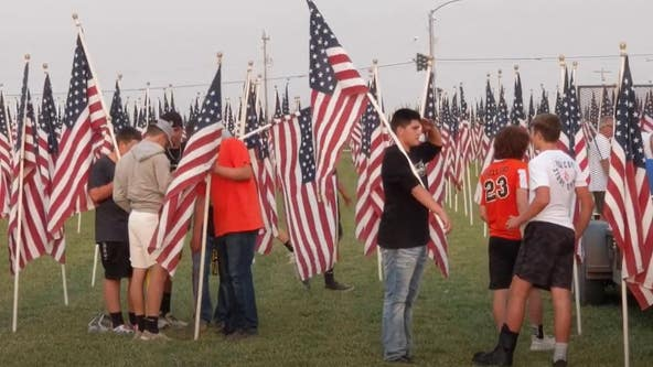 Americans plant US flags across country in remembrance of 9/11