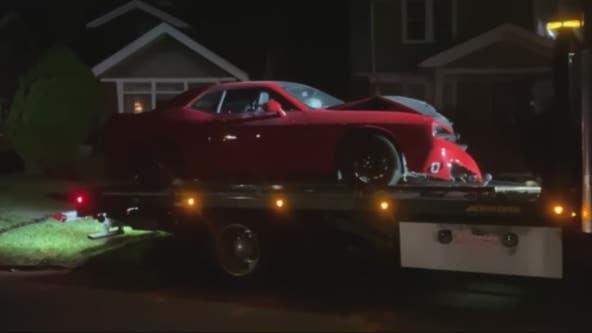 Detroit Police officer arrested after crash in stolen Dodge Challenger