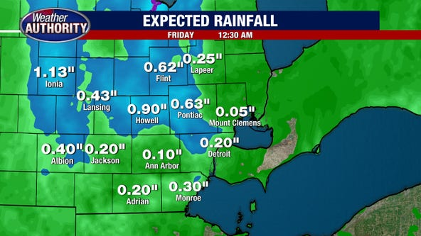 Metro Detroit weather: More rain Thursday before a dry stretch