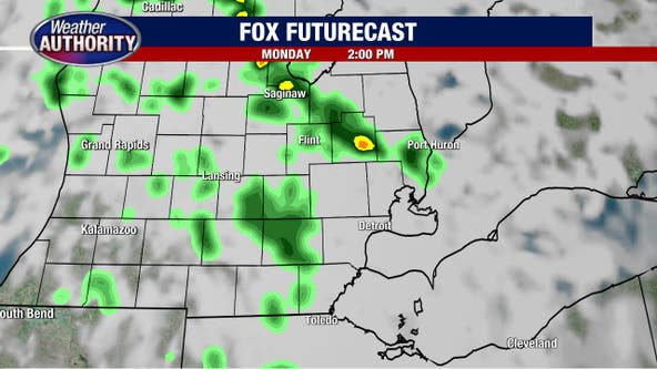 Monday will near 80 degrees with chances of rain this afternoon. But a major shift in weather is on the way