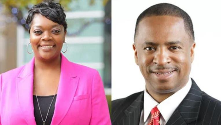 Detroit councilmembers Janee Ayers and Scott Benson.