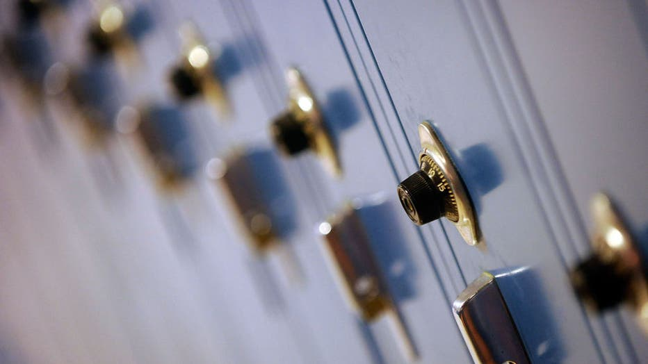 (012510, South Hadley, MA) Rows of lockers line the hall of South Hadley High School on Monday, January 25, 2010. Staff photo by Christopher Evans saved in Tuesday