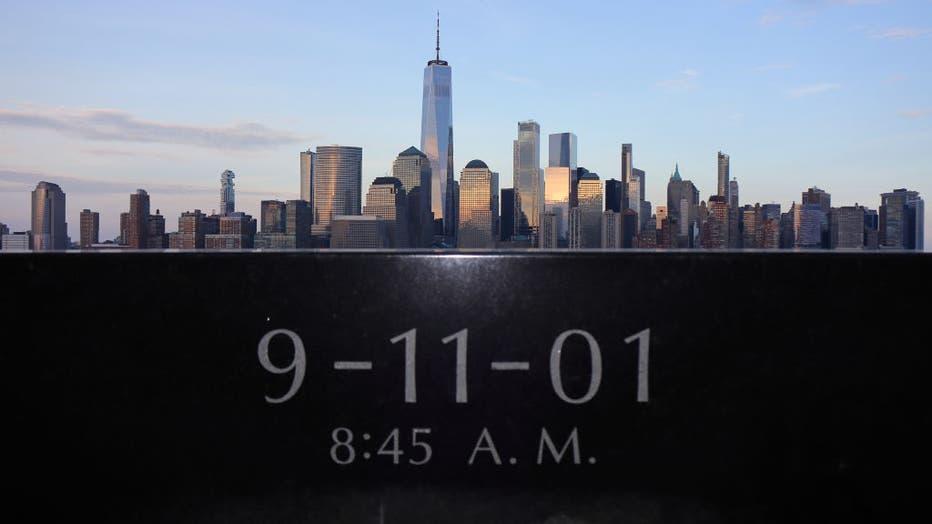 9/11 Memorial Across From Lower Manhattan in New York City