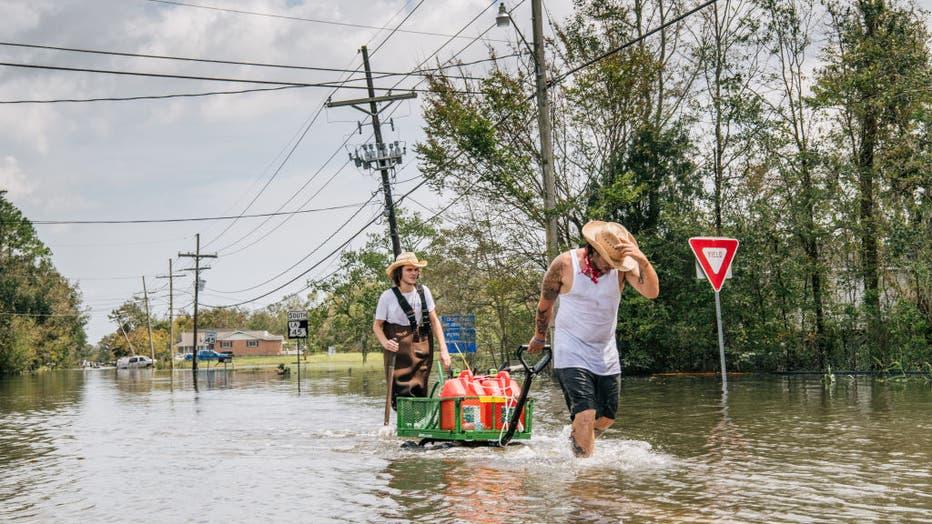 1eeb8e3c-Hurricane Ida Bears Down On Louisiana As A Major Storm
