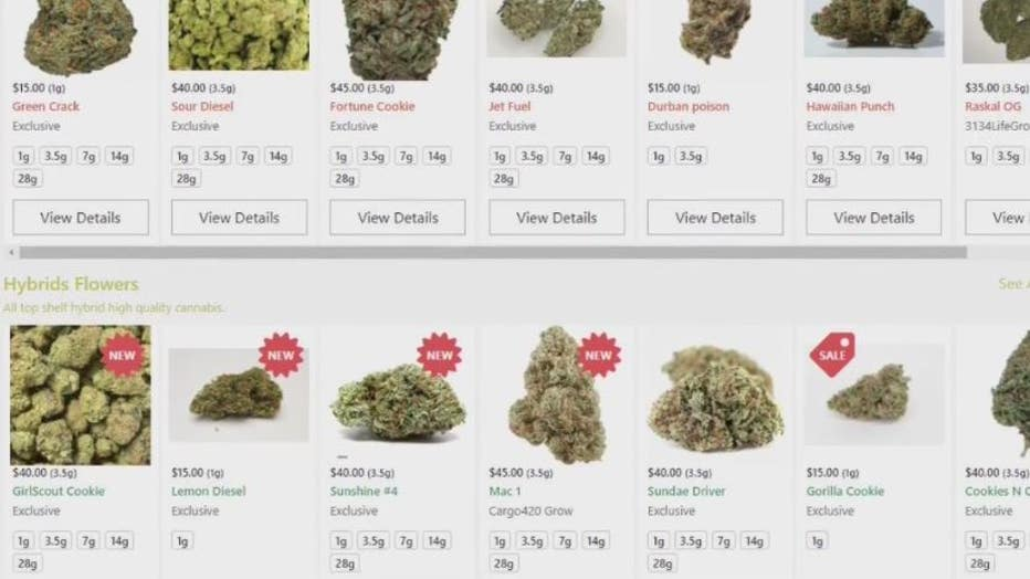 Products listed on the Exclusive Delivery Services site., one of the names for Cargo 420.