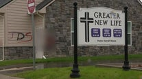 Roseville church vandalized with hateful grafitti