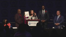 Gov. Whitmer vetoes 4 reform bills at NAACP Fight for Freedom Fund Dinner