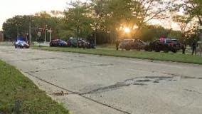 Suspected stolen car driver tries to ram through police blockade, fails