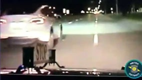 VIDEO: Woman leads police on long chase in Tesla stolen from Troy dealership
