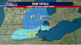 Rain continues for east Michigan Monday making for slick morning driving