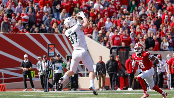 No. 10 Spartans stay perfect with 20-15 win at Indiana