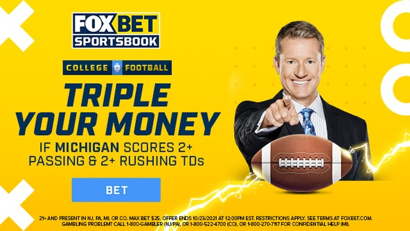 Triple Your Money on FOX Bet if Michigan scores two passing and rushing TDs!