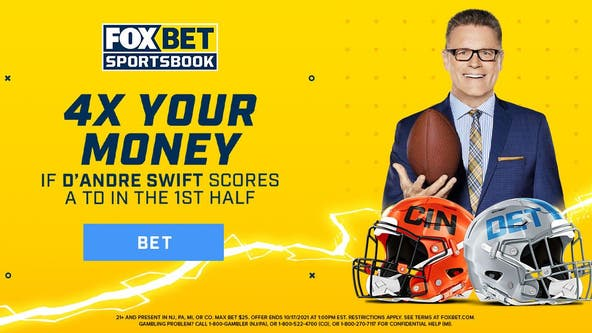 4x Your Money on FOX Bet if D'Andre Swift scores a TD in the first half against the Bengals