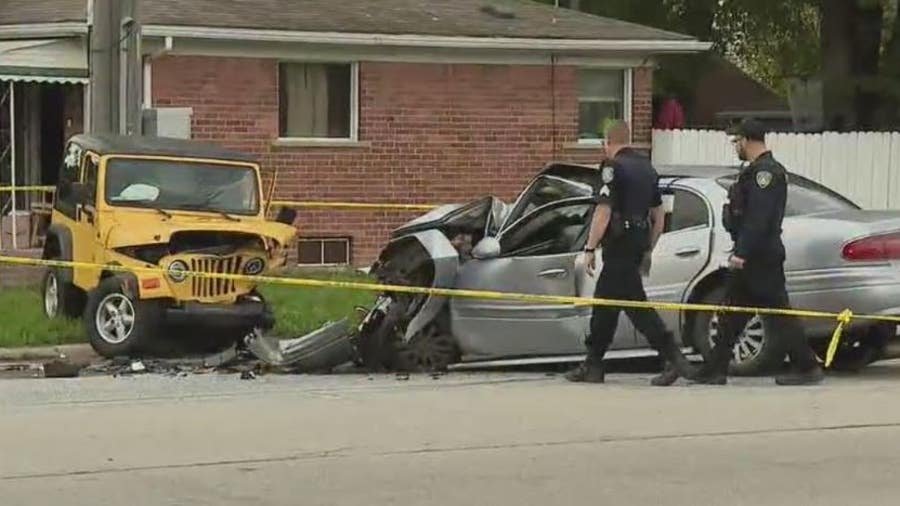 Suspected road rage shooting leads to 3 car crash in Garden City